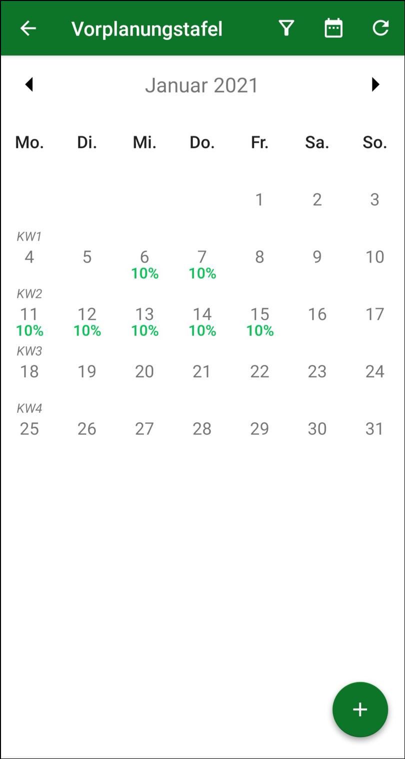 MontageAkte Vorplanungstafel